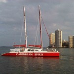 Caribbean Spirit side view building background