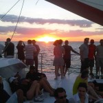 Miami Sunset Caribbean Spirit romantic people onboard