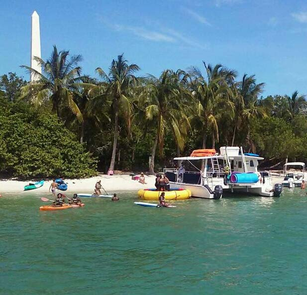 Enjoy water toys on Tranquility for a day cruise from Miami cayaks offer