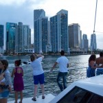 miami_party_catamaran boat tours buildings background