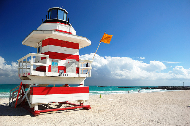 South Beach Guard Tower Miami boat tours