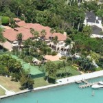 Star island view from the sky for a day cruise from Miami green forest beach tour
