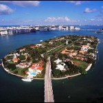 Star Island birds eye view for a day cruise from Miami