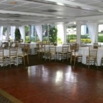 130′ Chesapeake Boatworks Yacht dining table