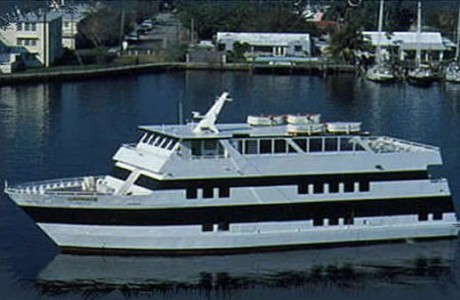 130- foot Custom-built yacht side view