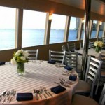 130- foot island boat dining table
