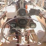 sailing yach steering wheel