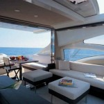 68-foot Azimut 68S terrace outside view