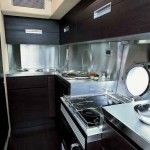 68-foot Azimut 68S kitchen dock