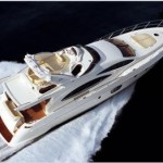 70-foot Azimut speed boat top view