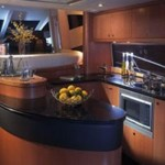 72-foot Sunseeker Manhattan kitchen look
