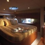 72-foot Sunseeker Manhattan bedroom look