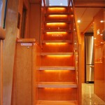 80- foot hatteras wooden stairs