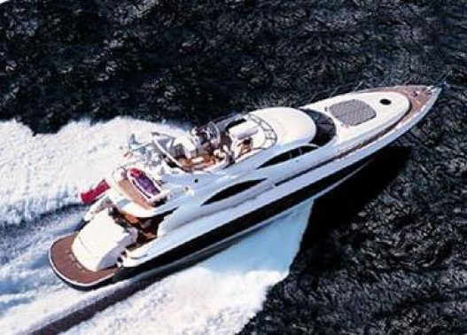 84- foot Sunseeker Manhattan top view